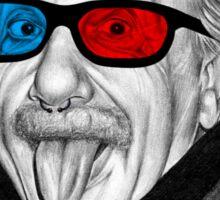 Albert Einstein 3d Glasses Piercing Sticker