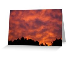 Amazing Sunset in Quebec, Canada Greeting Card