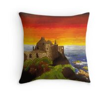Irish Castle Throw Pillow