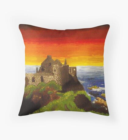 Irish Castle Throw Pillow