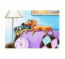 Long Nappers Art Print