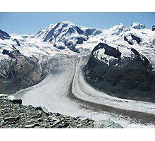 Gornergrat Glacier, Zermatt Switzerland Photographic Print