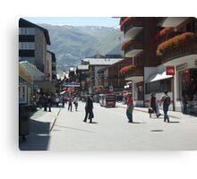 Tourism in Zermatt Switzerland Canvas Print
