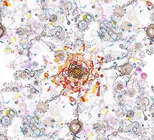 Intracellular diversion textile pattern by Regina Valluzzi