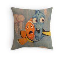 Taking On The Jellies Throw Pillow