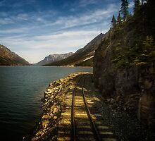 WP&Y RR along Lake Bennett in BC by Yukondick