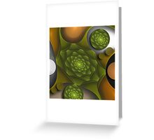 Bubbles and green roses Greeting Card