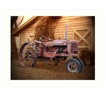 Tractor and Barn Art Print