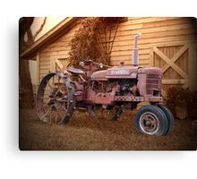 Tractor and Barn Canvas Print