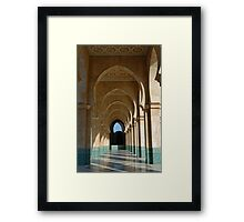 Archway Gallery at Hassan II Mosque, Casablanca, Morocco  Framed Print