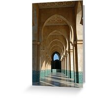 Archway Gallery at Hassan II Mosque, Casablanca, Morocco  Greeting Card