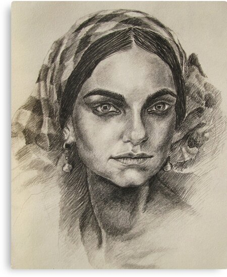 Female portrait 2 by Francesca Romana Brogani