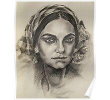 Female portrait 2 Poster