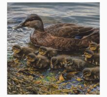 Mother duck & ducklings One Piece - Long Sleeve