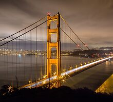 Capturing Golden Gate Bridge in the Night by Eyes Unveiled