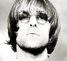Liam Gallagher Art B&W by kmercury
