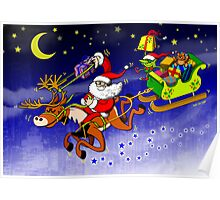 Santa's Gift Delivery with a Slingshot! Poster