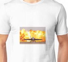 Fire and plane Unisex T-Shirt