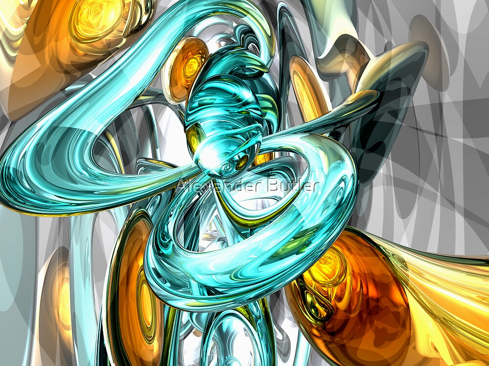 Blissfulness Abstract by Alexander Butler