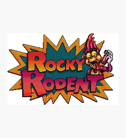 Rocky Rodent - SNES Title Screen Photographic Print