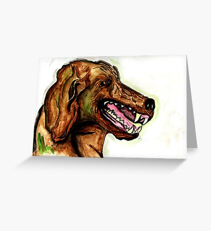 The Hound of the Baskervilles Greeting Card