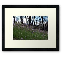 Flowers on the Fireground Framed Print