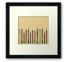 Pencils! Framed Print