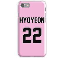 SNSD Hyoyeon Jersey iPhone Case/Skin