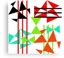 Trendy Bold Bright Colorful Abstract Geometric Design Canvas Print