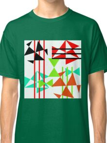 Trendy Bold Bright Colorful Abstract Geometric Design Classic T-Shirt