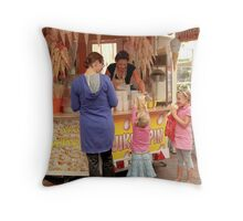 Popcorn for the girls Throw Pillow