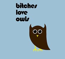 Bitches Love Owls Womens Fitted T-Shirt