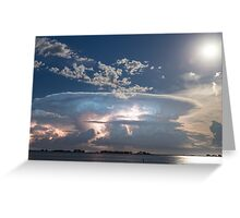 Lake View Lightning Show Greeting Card
