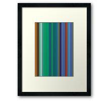 des lignes parallèles de couleur # 2 Framed Print