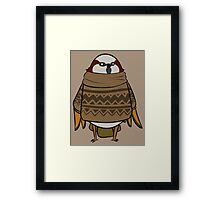 Sweater Sparrow Framed Print