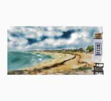 Elie Shorefront [Digital Landscape and Architecture Illustration] Scottish Seaside Towns Baby Tee