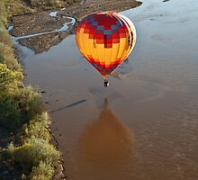 Touching Rio Grande Hot Air Balloon by doorfrontphotos