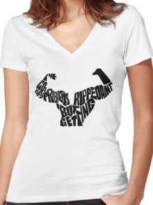 I've got 99 problems but getting ripped ain't one !!!! Women's Fitted V-Neck T-Shirt
