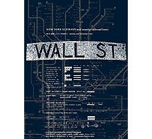 Wall Street Photographic Print
