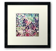 Trendy Modern Floral Collage Framed Print
