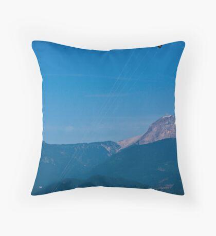 Kite Surfing at Squamish Throw Pillow