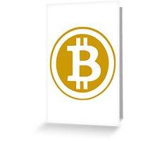 Bitcoin Symbol Greeting Card