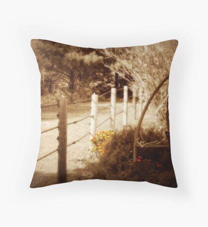 Sepia Garden Throw Pillow
