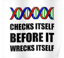 DNA Checks Wrecks Poster