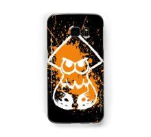Splatoon White Squid on Orange Splatter Samsung Galaxy Case/Skin