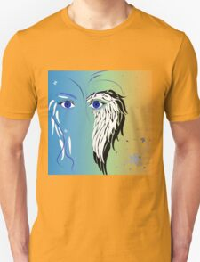 Beauty woman's face, wings and butterflies T-Shirt