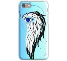 Beauty woman's face, wings and butterflies iPhone Case/Skin
