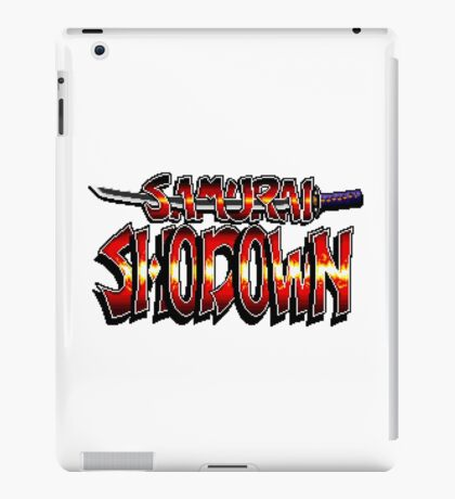 Samurai Shodown - SNES Title Screen iPad Case/Skin