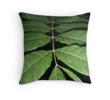 Fading Fronds Throw Pillow