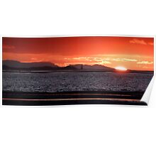 Point of Ayr Sunset Poster